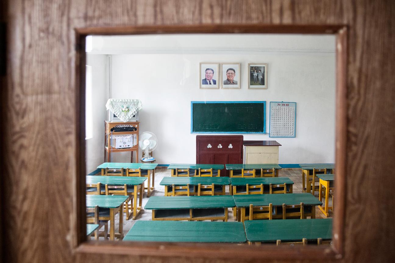 Schulzimmer in einem Kindergarten in der Nähe von Pyongyang.