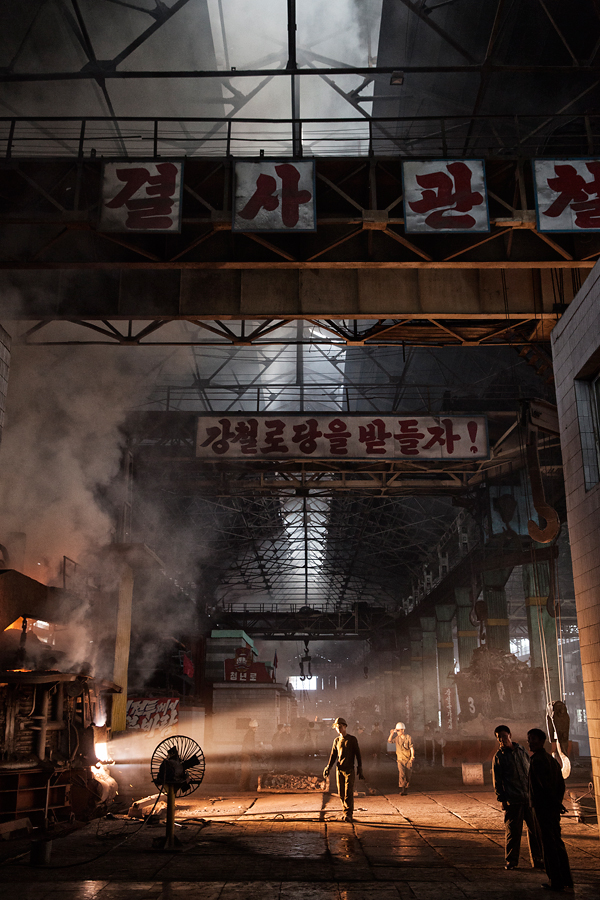 Der Cholima Stahl Komplex in der Nähe von Nampho, einer Stadt im Westen von Nordkorea.