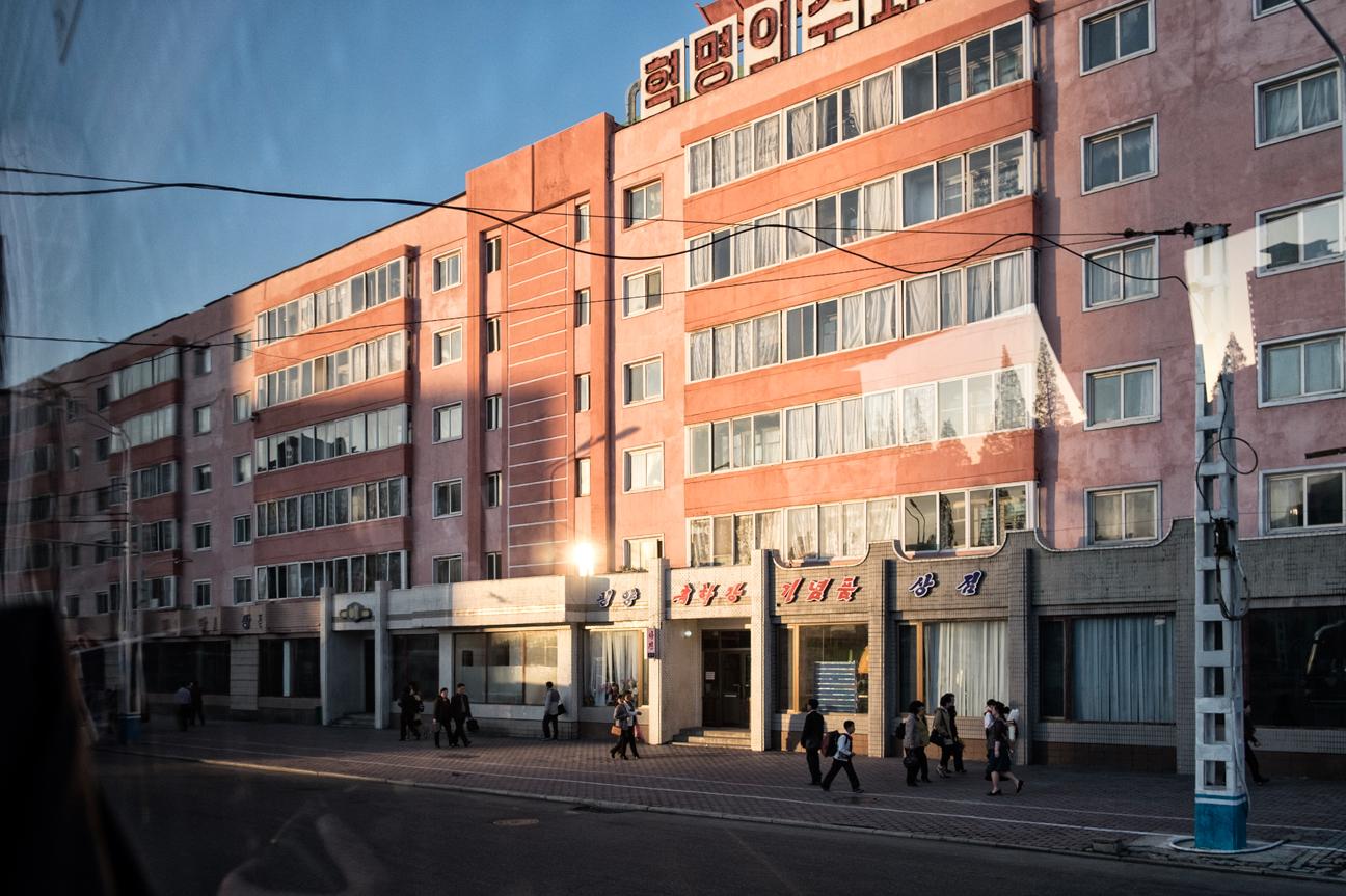 Strasse in Pyongyang